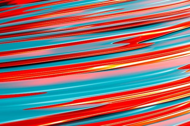 Ilustração 3d de uma faixa estéreo de cores diferentes