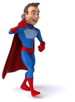 Ilustração 3d divertida de super-heróis