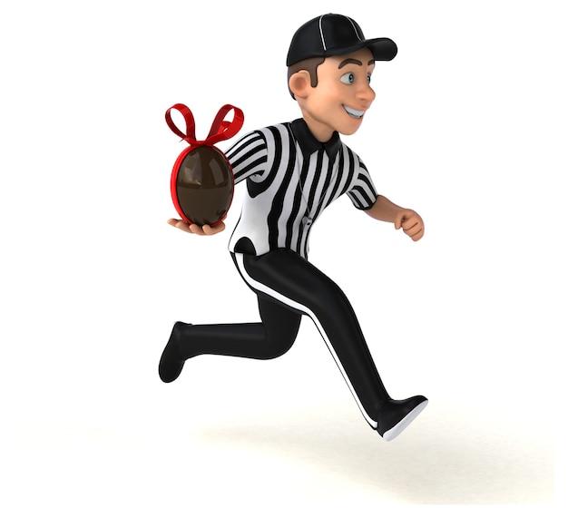 Ilustração 3d divertida de um árbitro americano Foto gratuita