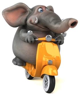 Ilustração 3d divertida do elefante