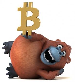 Ilustração 3d divertida orang-outan