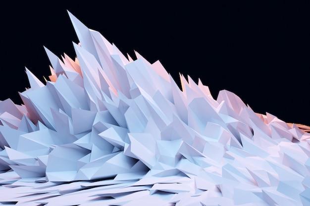 Ilustração 3d do cristal de luz, efeito de luz de reflexos e refrações. padrão de sobreposição para plano de fundo.