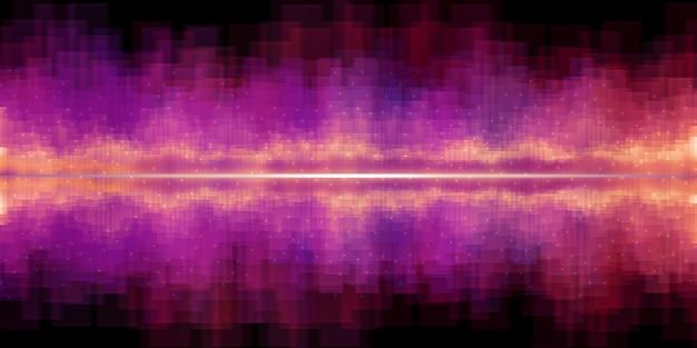 Ilustração 3d do efeito sonoro do equalizador de onda sonora