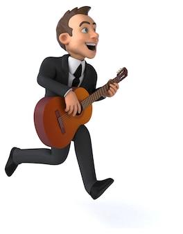 Ilustração 3d do empresário divertido