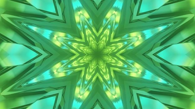 Ilustração 3d do fundo abstrato de um túnel vívido e sem fim em forma de flor