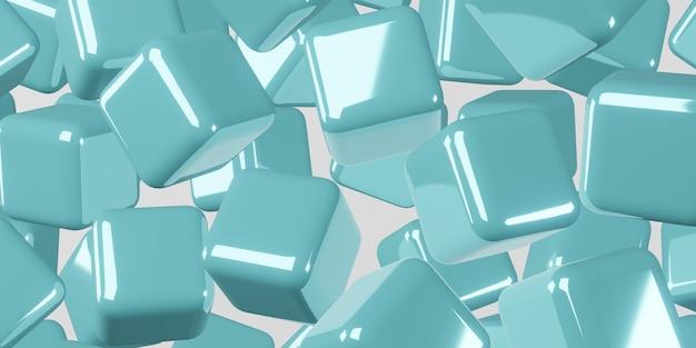 Ilustração 3d do fundo abstrato do cubo