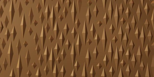 Ilustração 3d do fundo geométrico abstrato do triângulo pontiagudo
