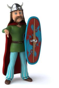 Ilustração 3d do guerreiro da gália
