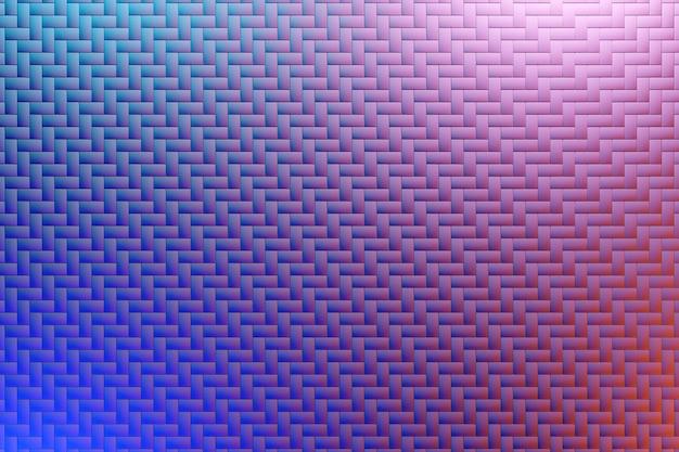 Ilustração 3d do padrão geométrico rosa e azul de um padrão impressão decorativa, padrão. impressão 3d triangular