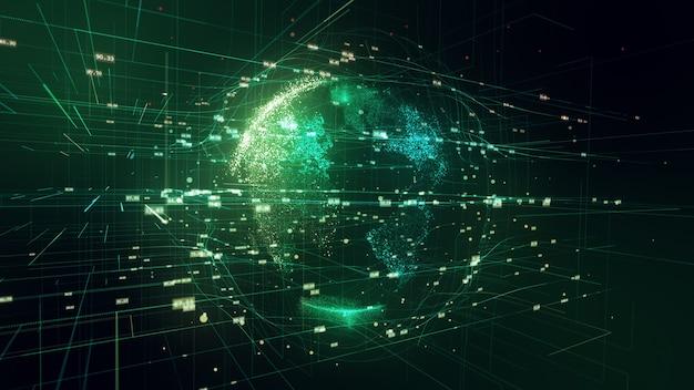 Ilustração 3d do planeta terra no espaço