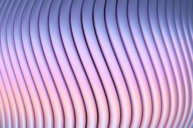 Ilustração 3d do portal de linhas rosa e azul, caverna. padrão de forma.