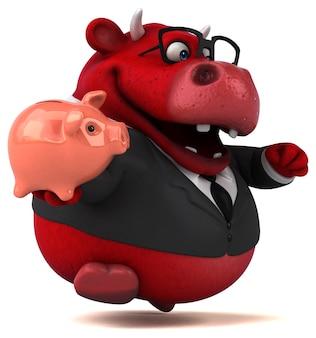 Ilustração 3d do red bull