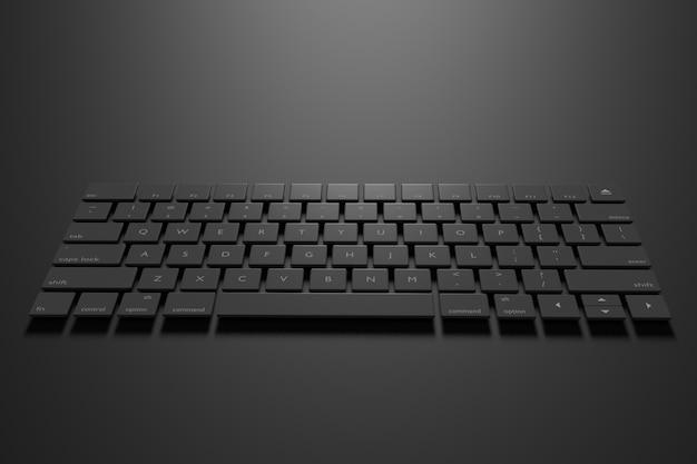 Ilustração 3d do teclado