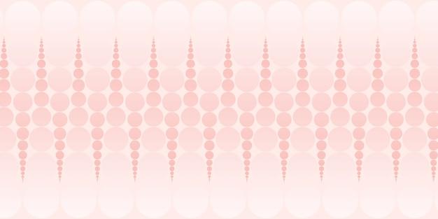 Ilustração 3d em cor pastel de padrão abstrato de círculo e bolinhas