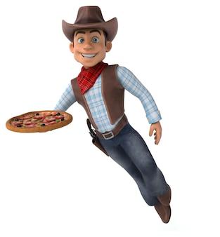 Ilustração 3d fun cowboy