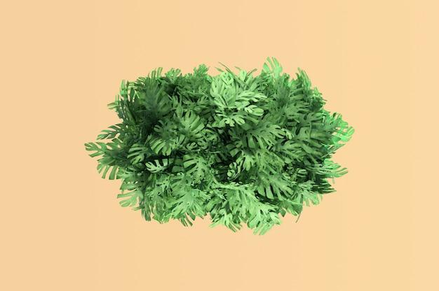 Ilustração 3d. fundo natural de folhas tropicais
