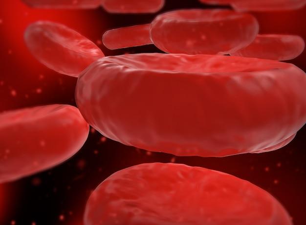 Ilustração 3d. glóbulos vermelhos. conceito científico e médico.