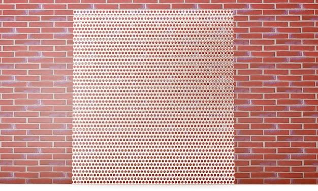 Ilustração 3d grade de metal. fundo de textura de malha metálica com reflexos