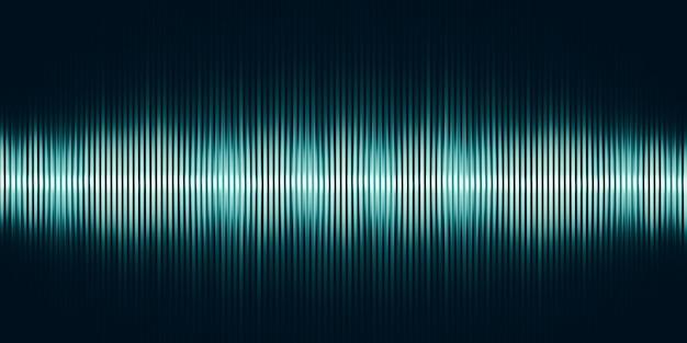 Ilustração 3d onda sonora música abstrata fundo de pulso gráfico de onda sonora de frequência e espectro separadamente em fundo preto