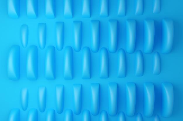 Ilustração 3d padrão azul em estilo ornamental geométrico