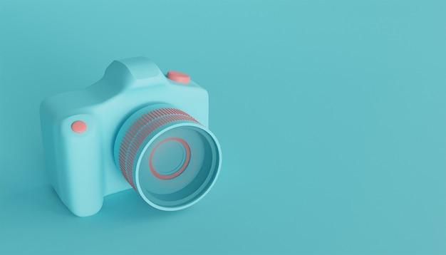 Ilustração 3d render do ícone da câmera dslr