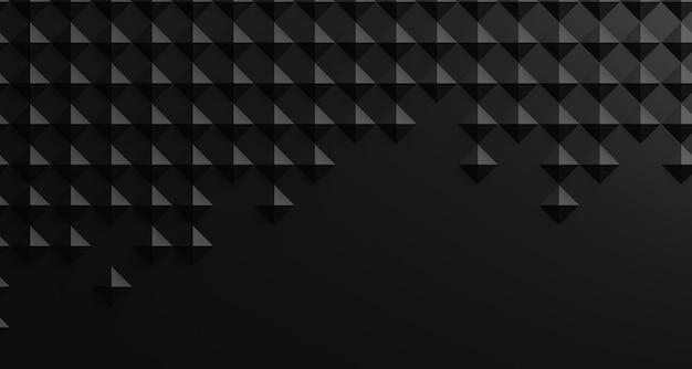 Ilustração 3d textura abstrata preta. o estilo da arte do papel pode ser usado no design da capa, planos de fundo de sites ou publicidade.