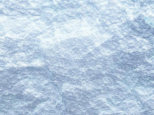 Ilustração 3d, textura de pedra branca áspera, superfície de gelo de close up de cor azul e branco