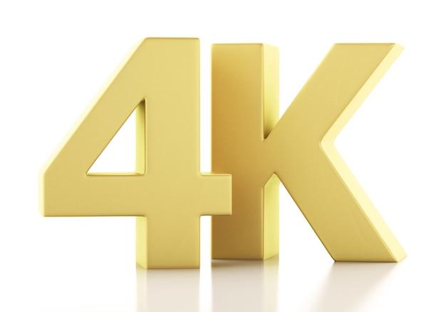 Ilustração 3d. tv 4k ultrahd. conceito de tecnologia.