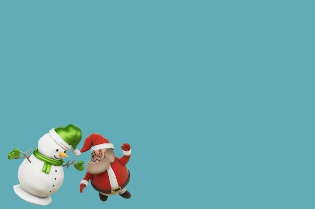 Ilustração 3d, um presente do papai noel no dia de natal