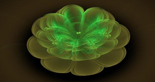 Ilustração abstrata do fractal útil como pano de fundo