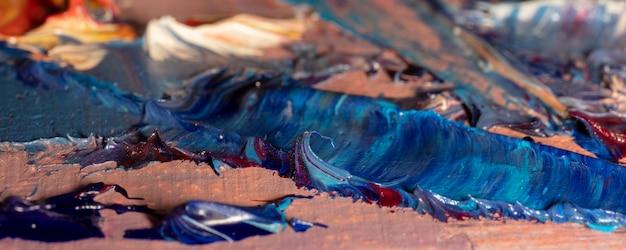 Ilustração abstrata do fragmento de pintura a óleo