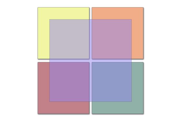 Ilustração abstrata do logotipo do fundo dos quadrados coloridos pastel