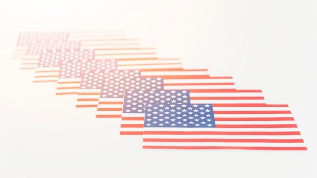 Ilustração criativa de bandeiras da américa