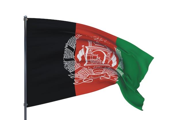 Ilustração d acenando as bandeiras da bandeira mundial do afeganistão, isolada no fundo branco