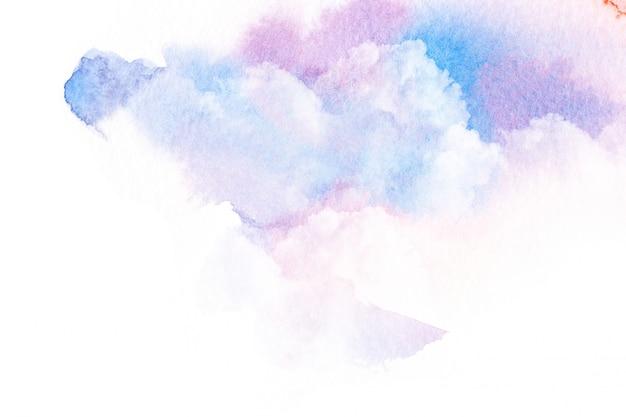 Ilustração da aguarela do céu com nuvem.