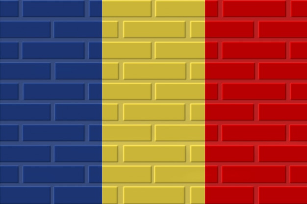 Ilustração da bandeira de tijolo da romênia