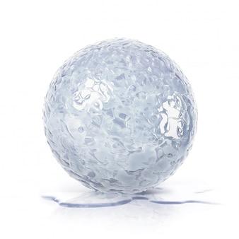 Ilustração da bola 3d do gelo no branco isolado
