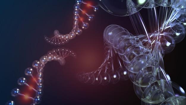 Ilustração da ciência em engenharia genética e gestão de genes