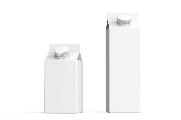 Ilustração da maquete da embalagem em vários tamanhos