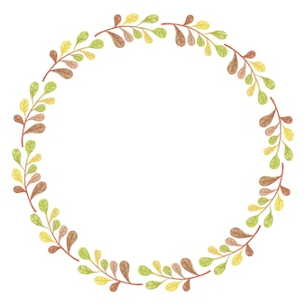 Ilustração da moldura do outono - coroa de folhas