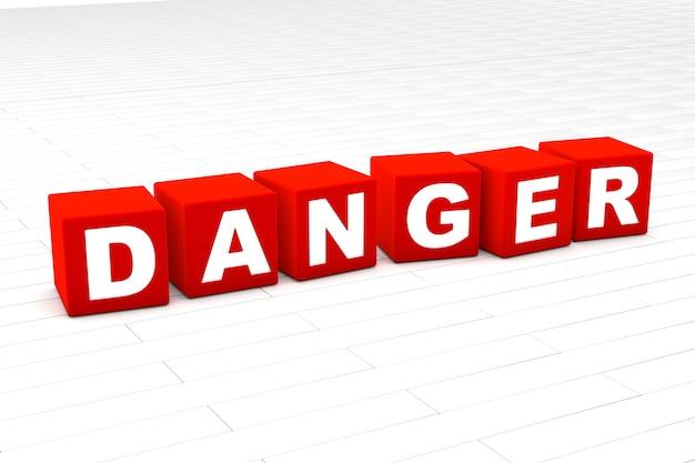 Ilustração da palavra de perigo