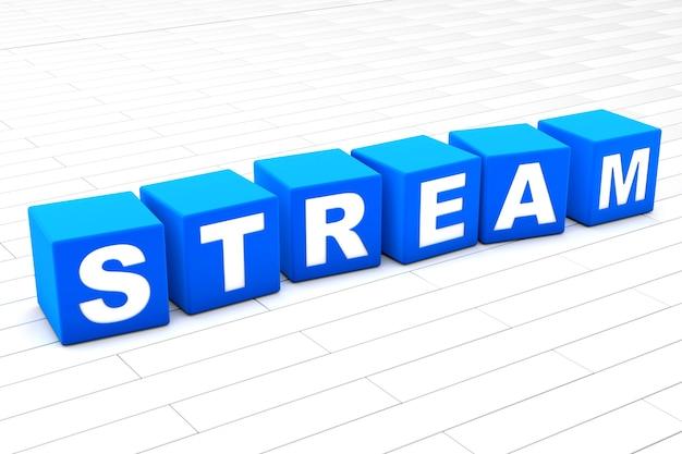 Ilustração da palavra do stream