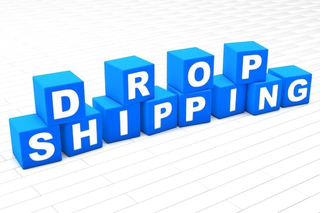 Ilustração da palavra drop shipping