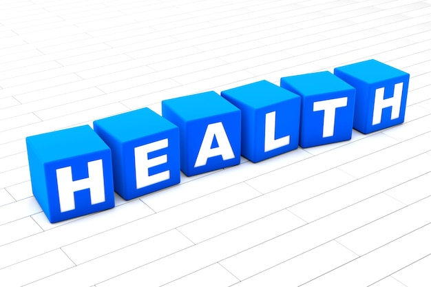 Ilustração da palavra saúde