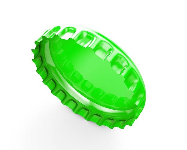 Ilustração da renderização 3d das tampas das garrafas isolada no fundo branco