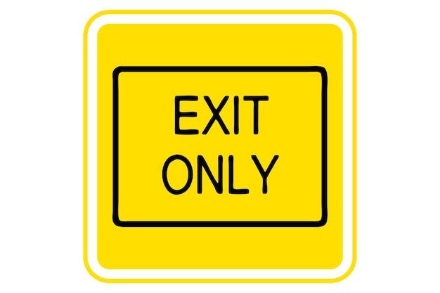 Ilustração da saída apenas em fundo amarelo