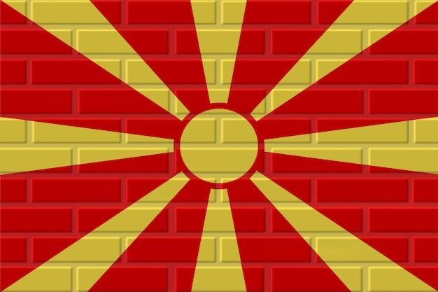 Ilustração de bandeira de tijolo de macedônia