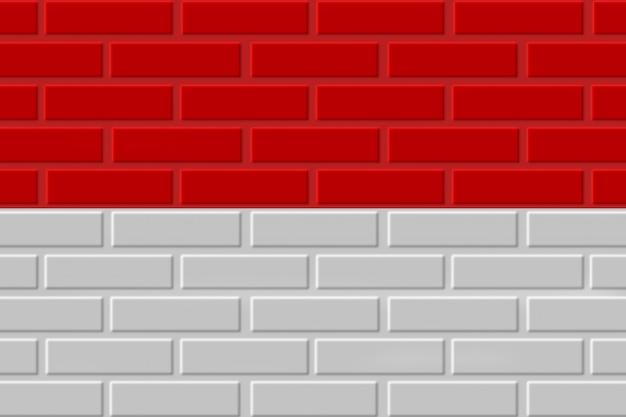 Ilustração de bandeira de tijolo de mônaco