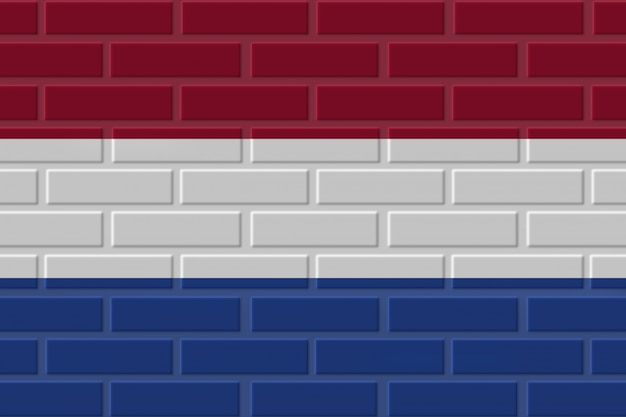 Ilustração de bandeira de tijolo de países baixos