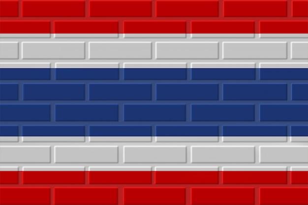 Ilustração de bandeira de tijolo de tailândia
